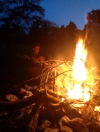 Sam's first bonfire