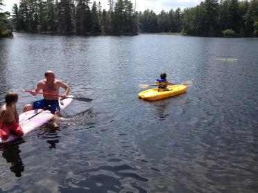 Kayaking on Toad Lake