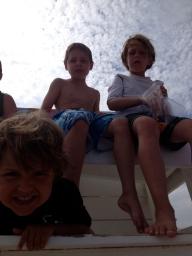 Sam, Aiden and new bestie Ryan